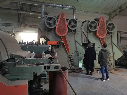 Aufreinigungsprozess vor der Garnherstellung