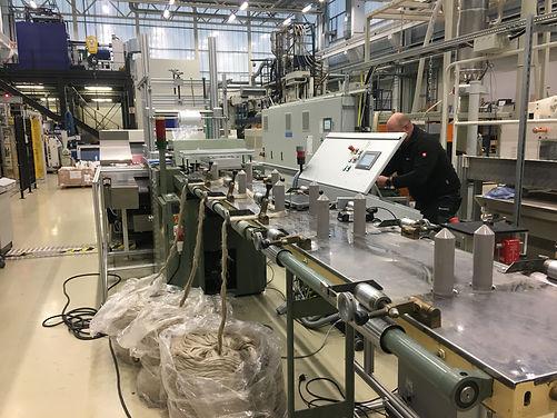 Nadelfeldstrecke im Technikum Fraunhofer