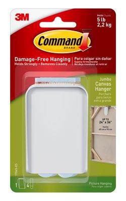 Command canvas hanger