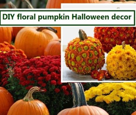 DIY Floral Pumpkin Halloween Decor To Adorn The Abode