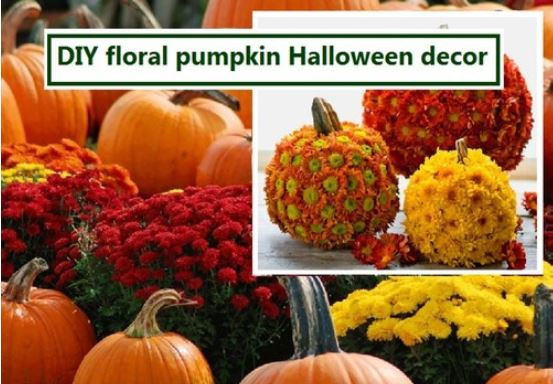 floral pumpkin decor