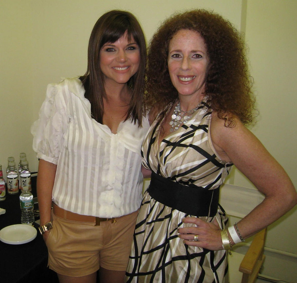Tiffani Thiessen with Carol Ruth Weber