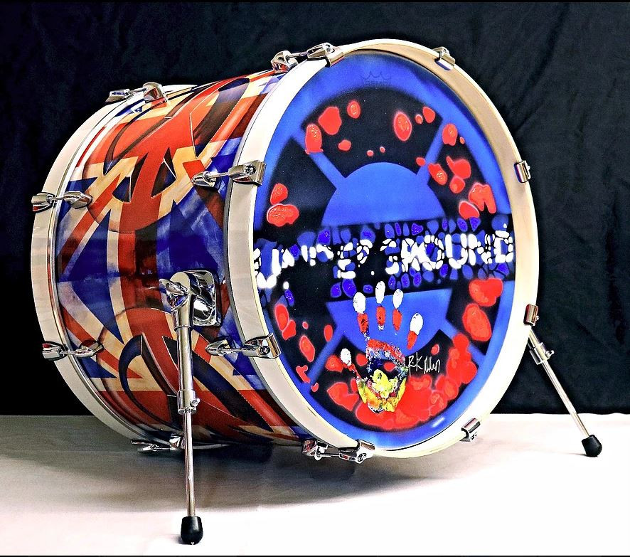 Rick Allen Fine Art Kick Drum Series