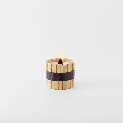 青森ヒバ木蠟燭01 HIBA WOOD CANDLE TYPE 01