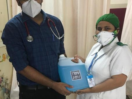Sanitizer Donation in Mumbai
