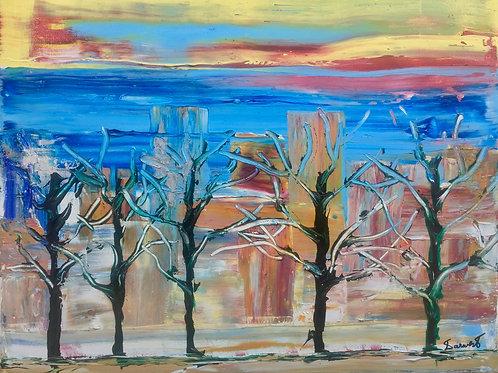 "Trees & Architecture II  16""x20"""
