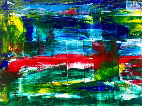 "Landscape fractured  16""x20"""