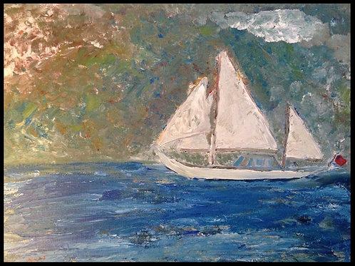 """Sailboat  18""""x24""""x2"""""""