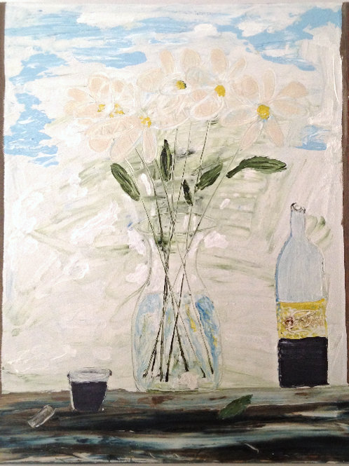 "sold Daisies from garden  24""x20"""
