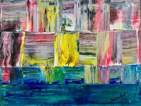 "Landscape fractured II  11""x14"""