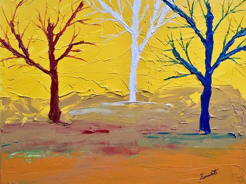 "Three Wise Trees  16""x20"""
