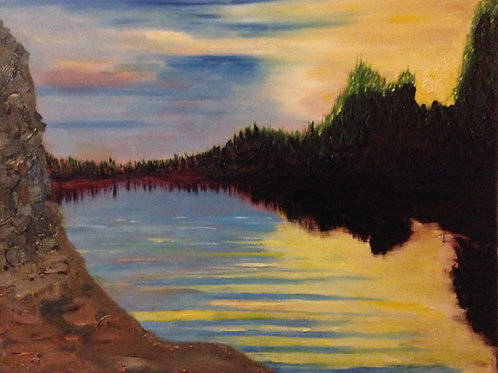 "Sundown on the Ottawa  16""x20"""