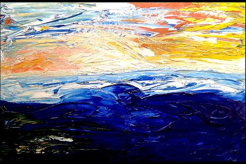 """Ocean coast  24""""x36""""x2"""""""