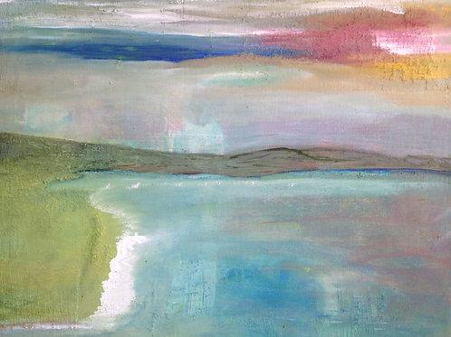"""Beach & sky  16""""x20"""""""