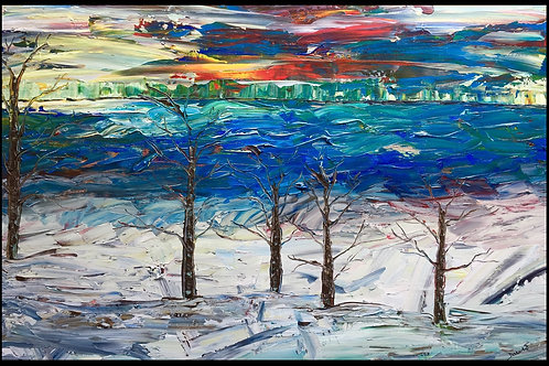 "Winter's Song  24""x36"""