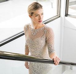 mother of bride long sleeve dress