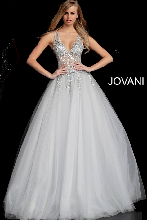 Crystal Embellished Bodice Prom Ballgown