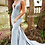 Thumbnail: Floor length form fitting glitter jersey prom dress with train