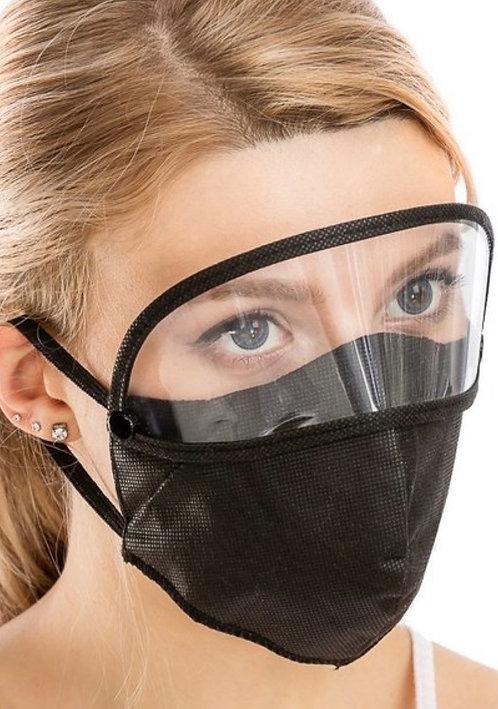 Facemask w/detachable eye shield