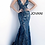 Thumbnail: sequin embellished lace prom gown with low v-neckline