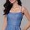 Thumbnail: Long Square Neck Glitter Knit Sparkly Dress