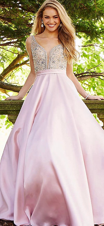 V Neck A-Line Ball Gown
