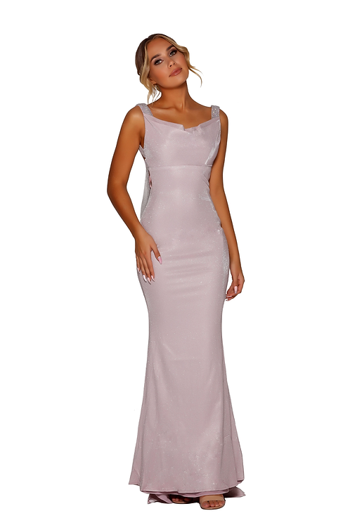 Cowl neck front and a low back Dress