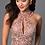 Thumbnail: Short HighNeck Lace Beaded Dress