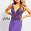 Thumbnail: Sheer Embellished Bodice Fitted Dress