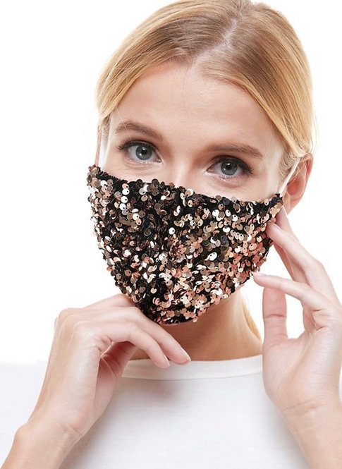 Fully Sequin Face Mask