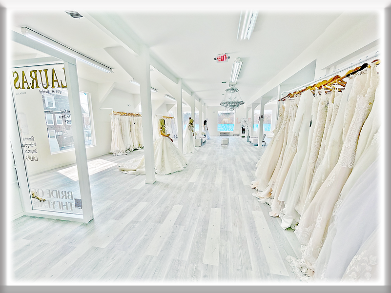 Photo of the inside of Lauras Boutique Bridal Shop
