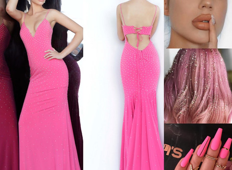 Hot pink trends dresses are a trend