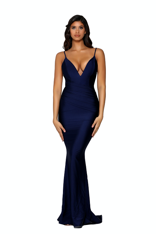 Fitted Long dress With a Plunging Neckline