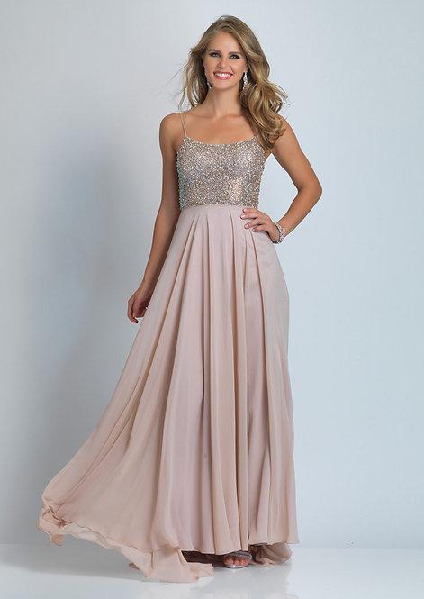 Beaded Top Flared Dress