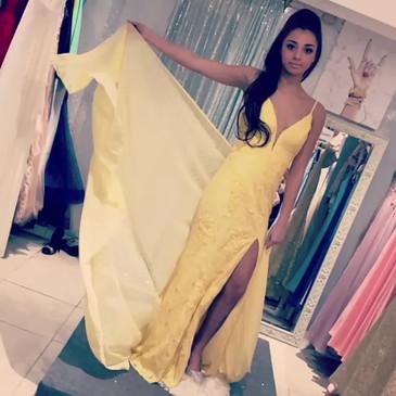 Lauras Boutique & Bridal Client Wearing A Prom Dress