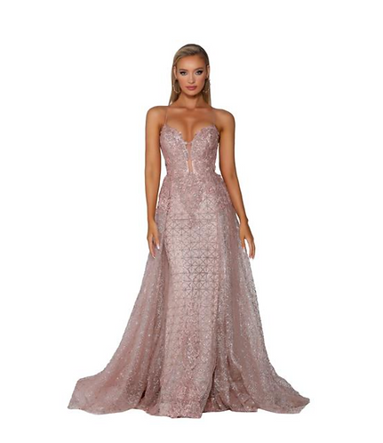 Sweetheart Open Back Evening Gown