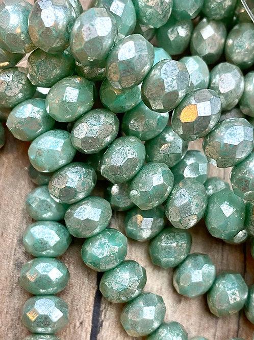 6X8 Mint Green with Heavy Mercury Finish
