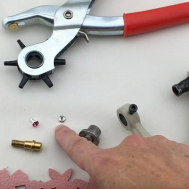 How to Set a Crystal Rivet