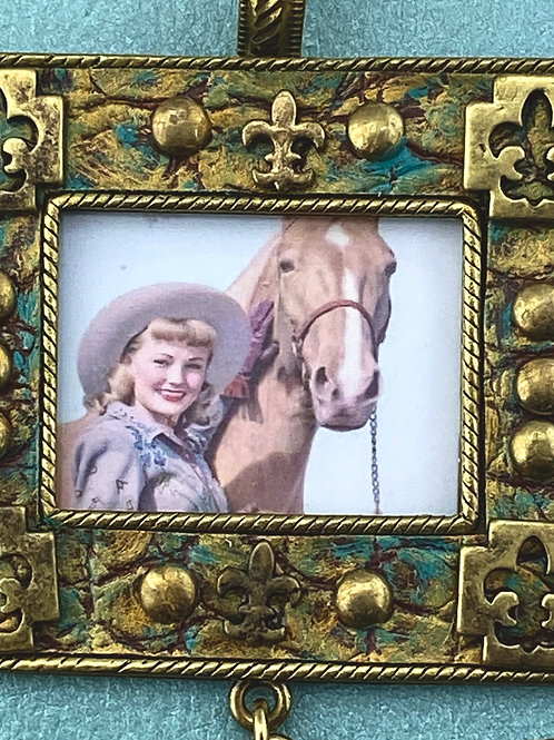 A COWGIRL & HER HORSE PENDANT