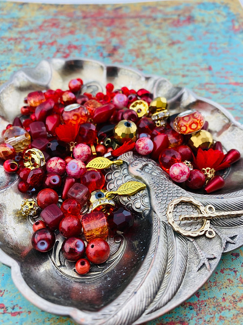 Red & Gold Necklace Kit