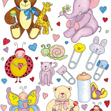 Stickers - Baby Theme - Marke