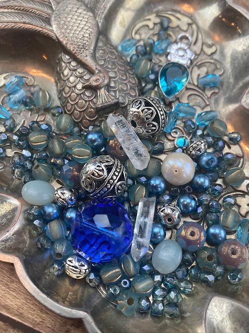Big Blue Bead Lot