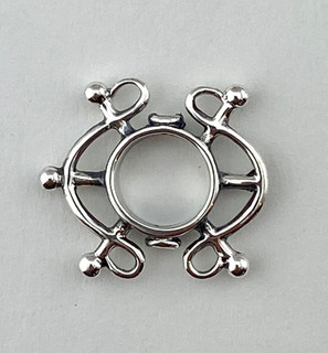 8mm Bead Frame, Sterling Silver