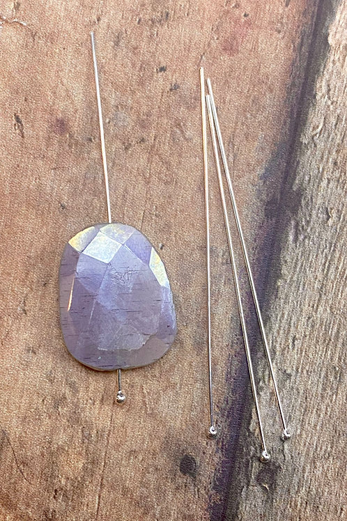 2 Inch Sterling Silver Gemstone  Headpins