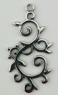 Sterling Silver Swirl Vine Pendant