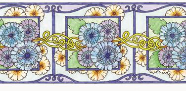 Floral Border - Marker