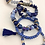 Thumbnail: 5 Piece Stacking Bracelet Set (blue)