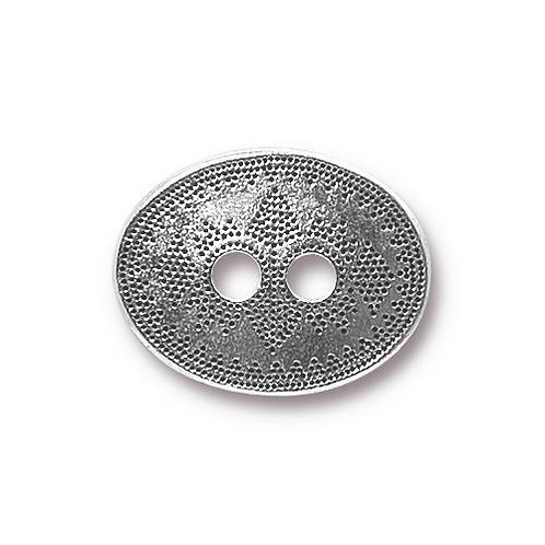 Tribal Style Antique Silver Button