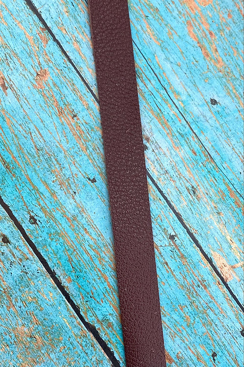 Die Cut Leather Bracelet with Button Hole 8""