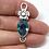 Thumbnail: Blue Topaz Flower Connector